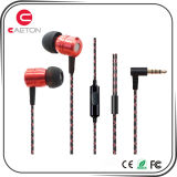 Durable Earbuds Metal Case Earphone com conectores de 3,5 mm