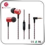 De duurzame Oortelefoon van het Geval van het Metaal Earbuds met de Schakelaars van 3.5mm