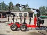 De Lader van het Logboek van de Aanhangwagen van het Hout ATV met Aanhangwagen