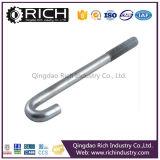 L'acier inoxydable J-Bolt&Nut/Hook d'acier du carbone boulonne le boulon d'anchrage de mur de cavité en métal de fixation d'ecrou-papillon/de boulon/cavité de fixation galvanisé
