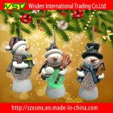Ornamentos del árbol de navidad de la luz de la Navidad y muñeco de nieve de la Navidad