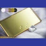 Glace décorative d'or de miroir de mur de fond