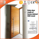 Porte en bois intérieure de créateur en bois de teck, faite dans la porte en bois en bois intérieure de porte et de teck de la Chine et le modèle de Windows
