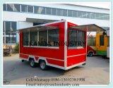 De kleurrijke Mobiele Aanhangwagen van de Verkoop van het Voedsel