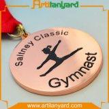顧客デザインは別のめっきの金属メダルを遊ばす