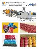 PVC+PMMA/ASA 플라스틱 색깔 물결 모양 기와 장 생산 라인 합성 건물 기와 밀어남 장비