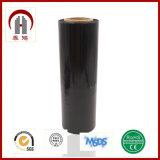 Película de estiramiento negra de Clour de la película de estiramiento del color de la película de estiramiento