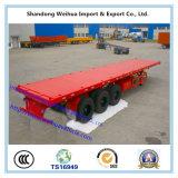 40FT o 20FT dei 3 assi della piattaforma del contenitore rimorchio a base piatta semi