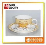 Rinforzare la tazza di caffè della porcellana con il filetto dorato di Bd052