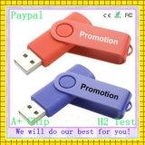 Disco de destello del USB de la insignia del adminículo de la memoria del disco del eslabón giratorio del disco libre del USB (GC-P982)