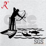T-shirt estampé de la chemise des hommes long pour la pêche (QF-2217)