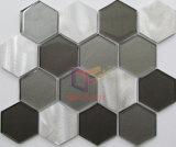 大きいサイズの六角形のガラス組合せのアルミニウム装飾のモザイク(CFA81)