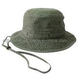 De calidad superior lavada bordado Ocio Pescador sombrero del cubo del casquillo (TRBH002B)