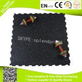 Mattonelle di pavimentazione di gomma di collegamento antiscorrimento per Shockproof resistente del centro di forma fisica