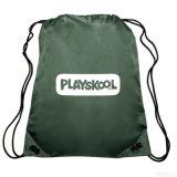 Sac de sac à dos de sac à dos de sac à dos de corde de sac d'épaule de double de bouche de paquet de polyester (GB#W3)