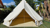 Playdo 100% Algodão Canvas 5m Bell Tent - Zipped in Ground Sheet Camping Tent