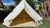 Rundzelt 100% des Playdo Baumwollsegeltuch-5m - Reißverschluss zugemacht in Bodenblatt-kampierendes Zelt