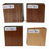 Ventana de aluminio del marco de la lumbrera del grano de madera (HM-A013)