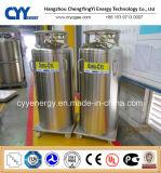 Cilindro criogénico industrial del Dewar del aislamiento del argón del nitrógeno del oxígeno líquido del GASERO