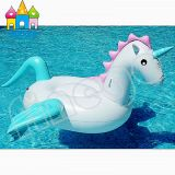Inflatable Swimming Swan Floating Stick Unicorn Pegasus Pool Float
