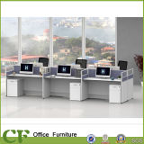 Einfache Art 6 Sitzgerader Büro-Partition-Stab-Arbeitsplatz