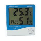 in & uit Thermometer Hygro en Clock (TH91)