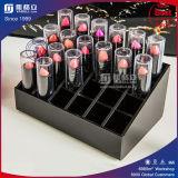 Support acrylique de rotation noir d'organisateur de renivellement
