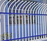 Cerca clássica do ferro do jardim da boa qualidade de três trilhos com porta