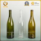 Вычура Corked стеклянная бутылка вина 750ml виноградины Burgundy (070)