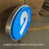Коробка пластичной овальной двойной бортовой напольной СИД афиши вакуума светлая