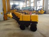 中国800kgの版のコンパクター(JMS08H)の後ろの二重ドラム歩行