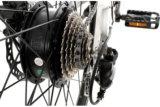 Bicicleta gorda elétrica da estrada da potência verde com bateria escondida