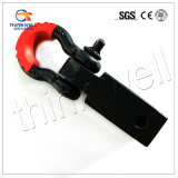 Solid Shank Shackle D Ring Receiver Hitch com isolador Kit