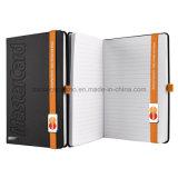 Diário A5 com o caderno de Lanybook da faixa elástica