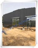 Taller ligero prefabricado de la estructura de acero con la grúa