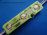 노란 모듈 3 칩 5730SMD는 LED 모듈을 방수 처리한다