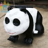Электрическая животная напольная идущая монетка автомобиля панды привелась в действие езду Scotter Kiddie