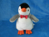 도매 기중기 기계 박제 동물 연약한 장난감 견면 벨벳 펭귄 장난감