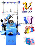Weihuan (WH) Computerized Feather Yarn et Microfiber Socks Knitting Machine, Half Flocking Socks (WEIHUAN-6FR)