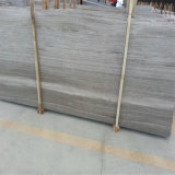 Silver Grey Hole Marble Wood Grain Straight Grain Travertin Marbre