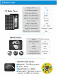 Système de d'éclairage portatif de l'énergie 3W solaire