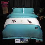 De Bladen van koningin Size Silk Solid Color Bed