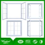 Двойное окно Casement Tempered стекла UPVC