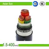 Câble d'alimentation en PVC gainé XLPE isolé Yjv4 * 70 + 1 * 35