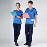 L'hôpital unisexe chirurgical frotte le salon de beauté uniforme d'infirmière uniforme