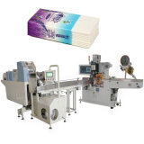 機械を作る小型のチィッシュペーパーが付いているハンカチーフのパッキング機械