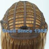 Clips en pedazos de extensión del pelo en color ligero con la onda de la carrocería