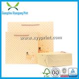Bolsa de papel de encargo de Brown Kraft con la ventana y la cremallera
