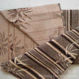 Tissu de Chenille teint par filé ordinaire de polyester de couleur pour le sofa
