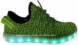 Zapatos ligeros atléticos de los deportes de Flyknit LED del calzado (816-7914)
